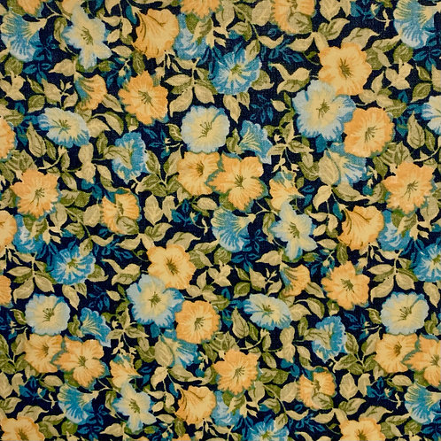 (SMALL) Yellow and Blue Floral