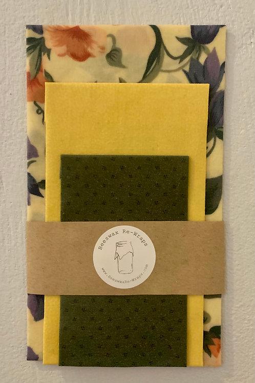 (S,M,L) Green Floral Multipack