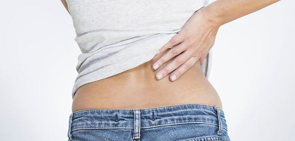 Picture of Woman Holding Back in Pain