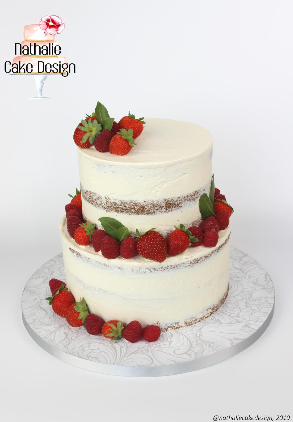 Wedding Cake Fruits Rouges