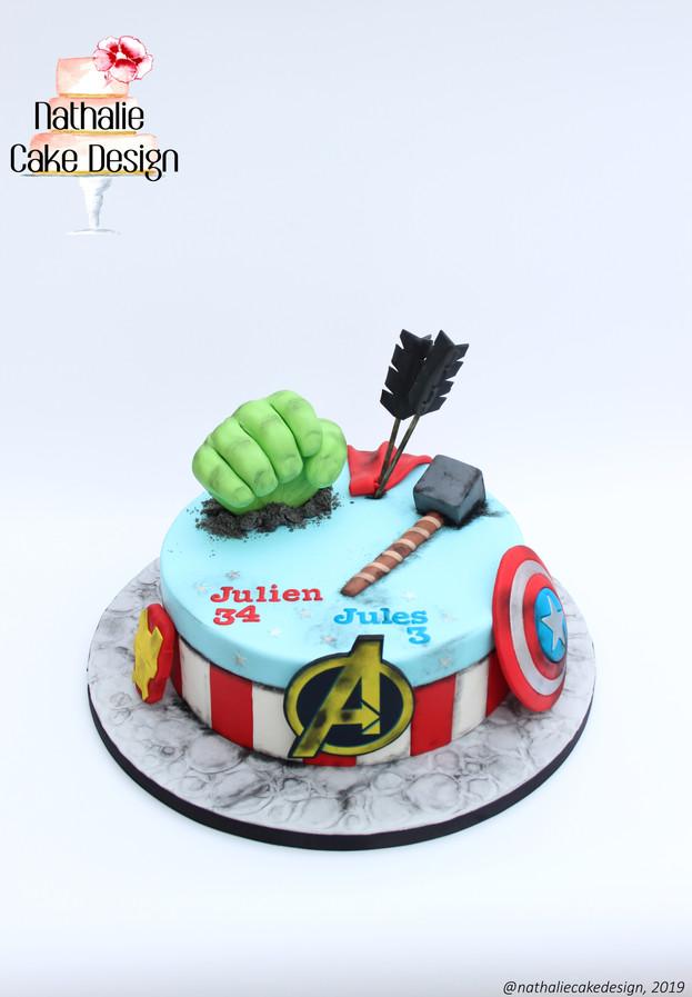 Gâteau Avengers après la bataille