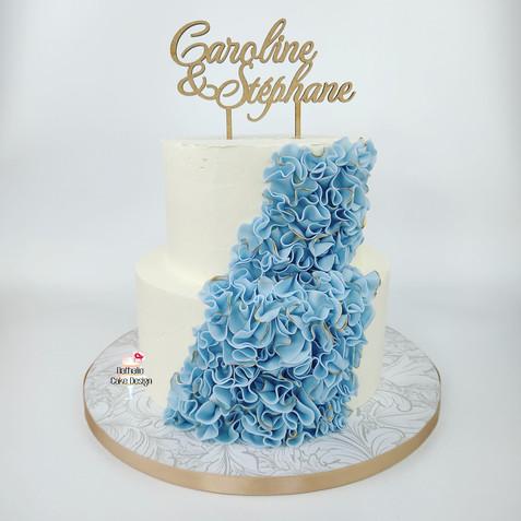 Wedding Cake Layer Cake Blanc & Bleu