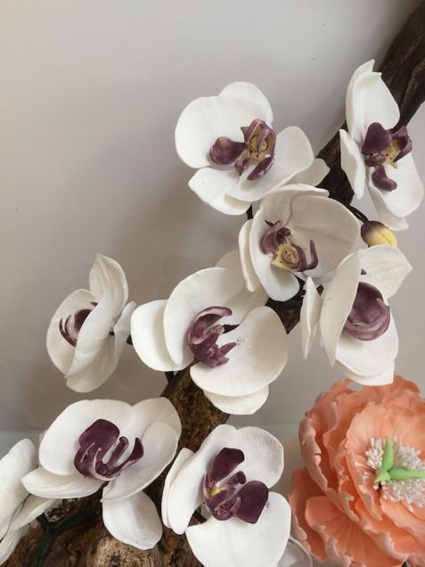 Branche Orchidées Pâte à Sucre