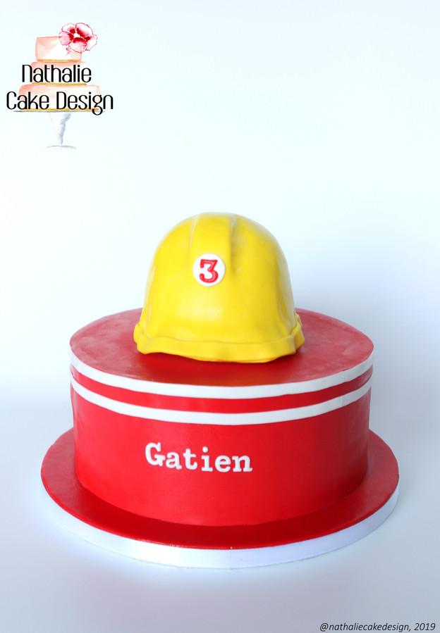 Gâteau Casque Pompier