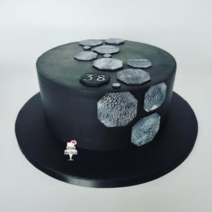 Gâteau Graphique Noir & Blanc