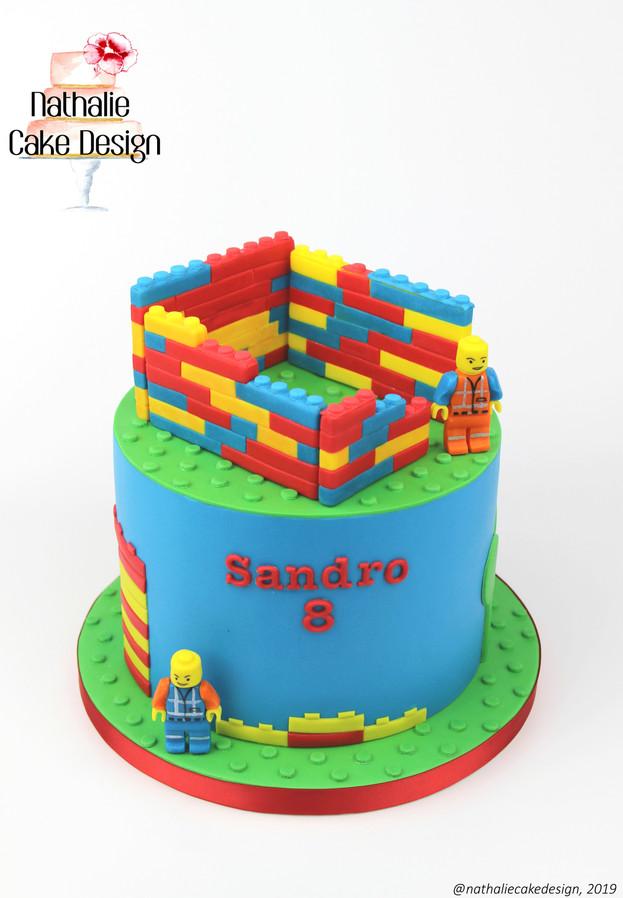 Gâteau Construction Lego