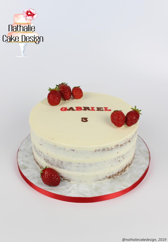 Semi Naked Cake Fraise