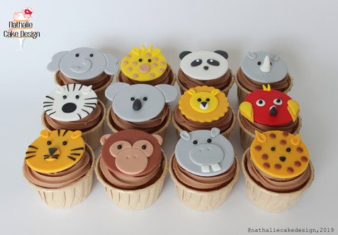 Cupcakes Animaux Safari