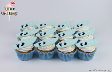 Cupcakes Baby Shower Surf