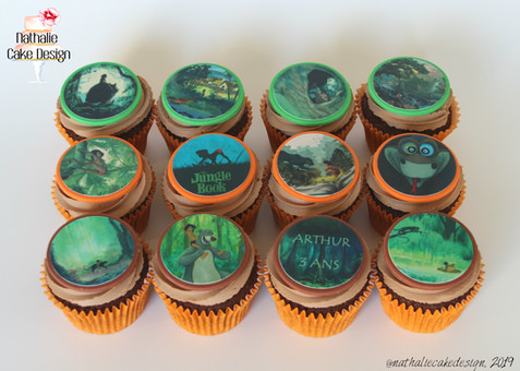 Cupcakes Livre de la Jungle