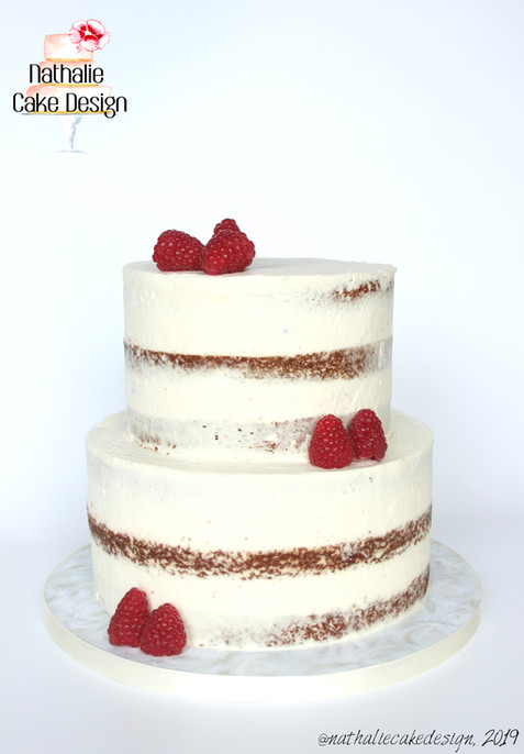Semi Naked Cake Framboise