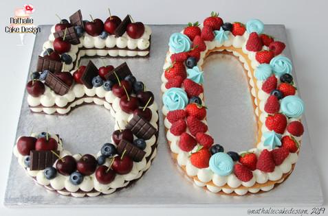 Number Cake 50 Bi Goût