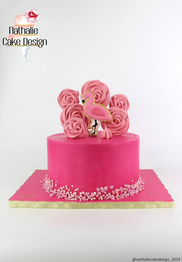 Gâteau Flamant Rose