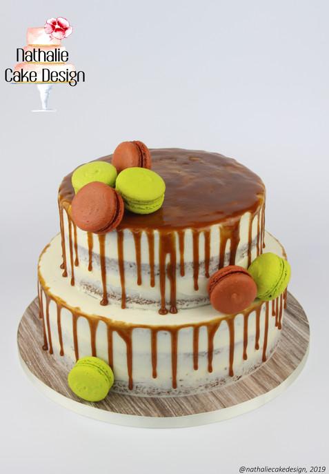 Wedding Cake Caramel Drip