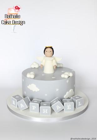 Gâteau Baptême Ange