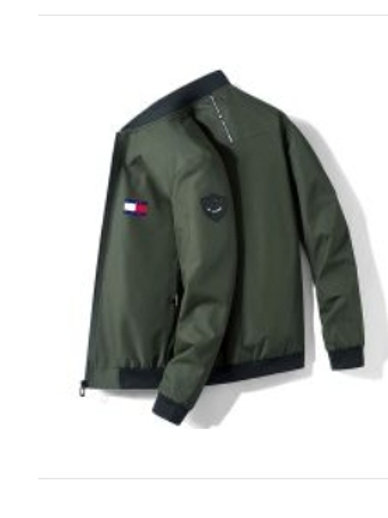 Mens Branded Jacket Tommy (Army Green)