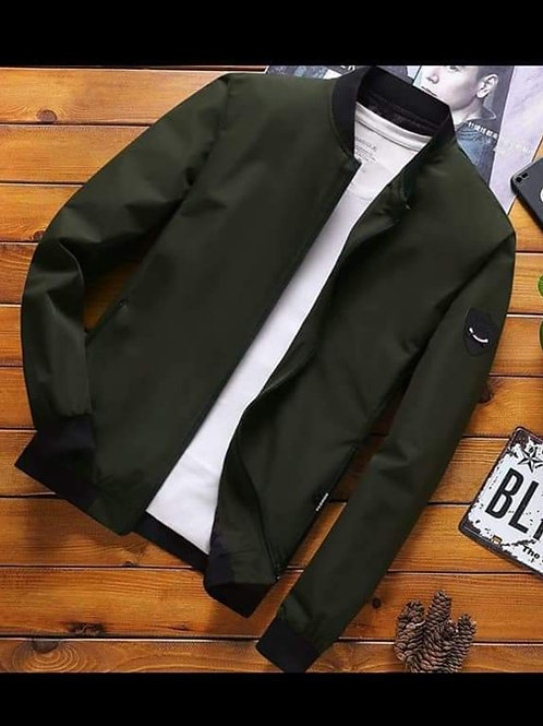 Casual Summer Bomber Jacket (Army Green)