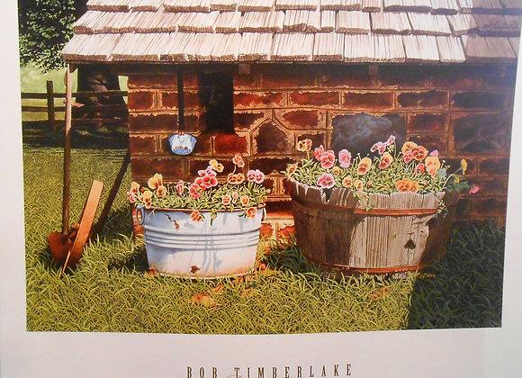 """""""Pumphouse Pansies"""" by Bob Timberlake"""