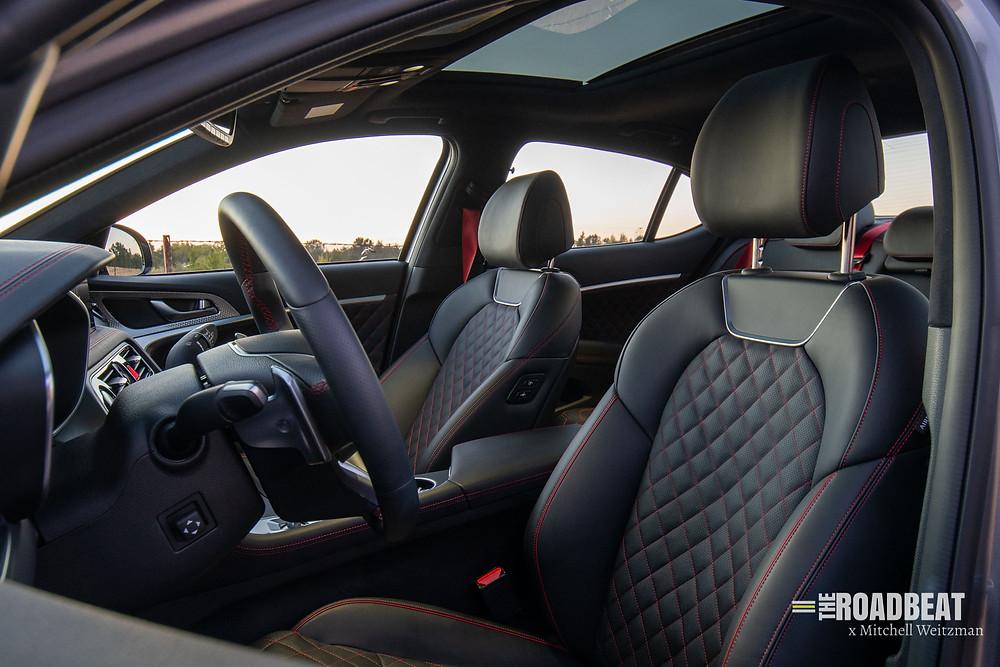 2022 Genesis G70 interior images