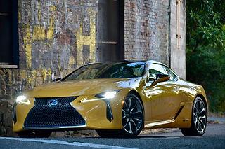lexus lc500 flare yellow