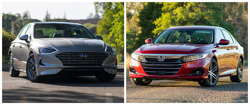 2021 Hyundai Sonata Hybrid verse 2021 Honda Accord Hybrid