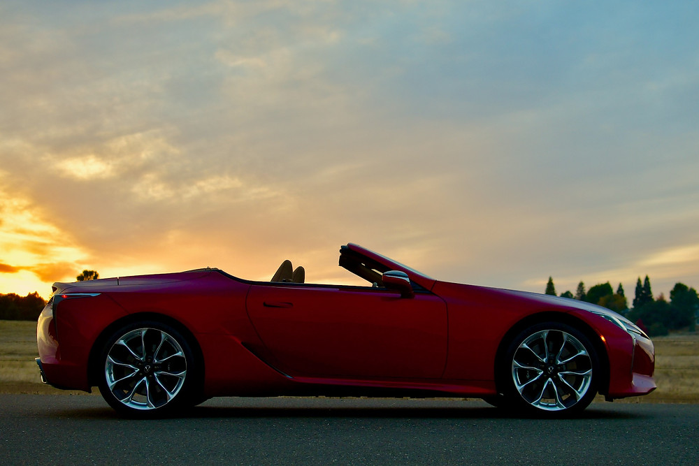 lexus lc 500 convertible infrared | the road beat