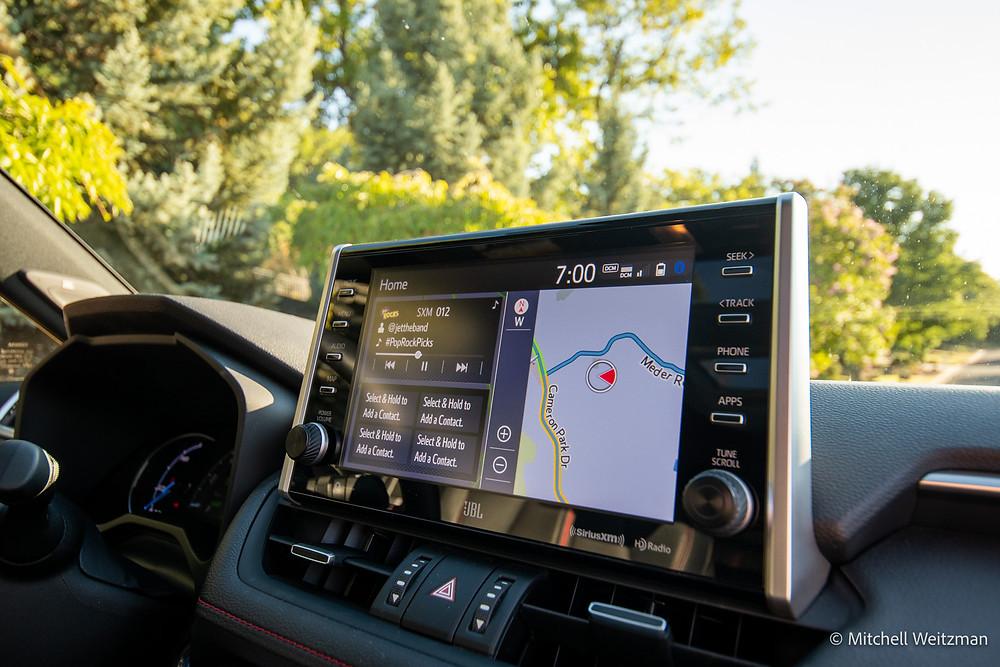 2021 Toyota RAV4 Prime entune infotainment display