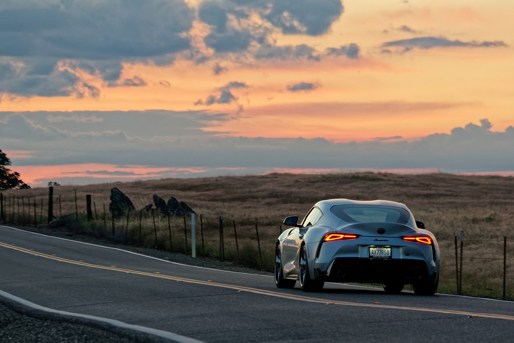 MKV Toyota Supra test by the road beat