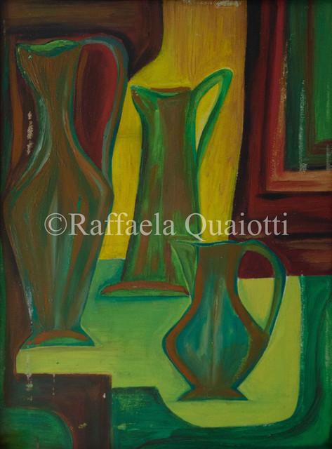 Bottiglie in Giallo, Rosso e Verde