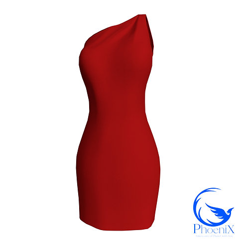 Red One Shoulder Tubino