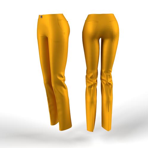 Orange low waist women Pants