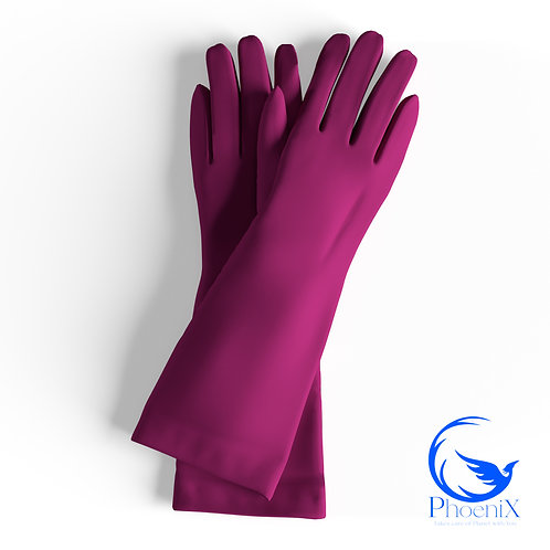 Fuchsia Short gloves