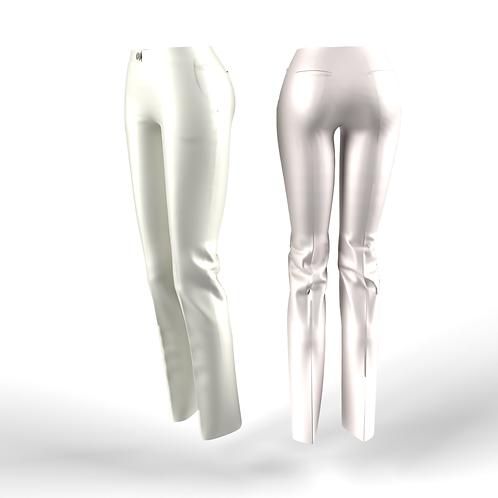 White low waist women Pants