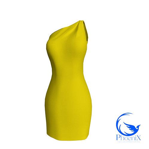 Yellow One Shoulder Tubino