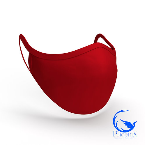 Dark Red Washable women Mask