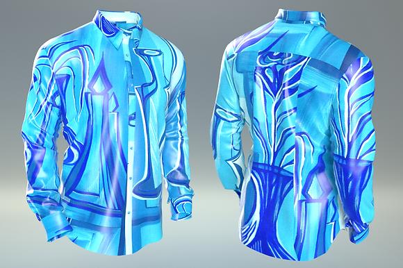 "Shirt ""I giochi della luce (blu)"""