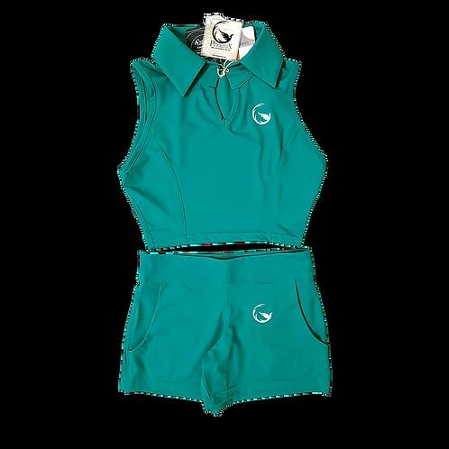 Amalfi green women Top&Shorts