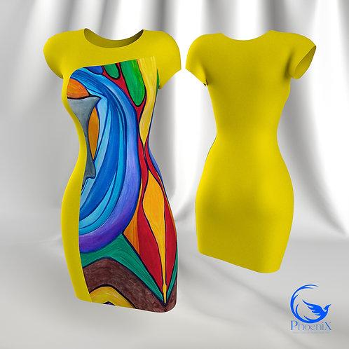 "Yellow Tubino with Rdress ""Visioni"" artwork"