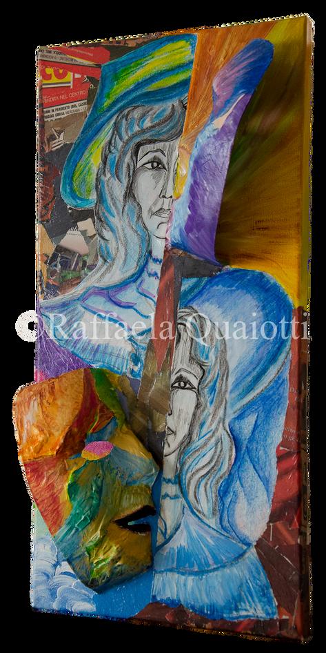 Le Maschere della Vita - Favola e Realtà (visione laterale destra)
