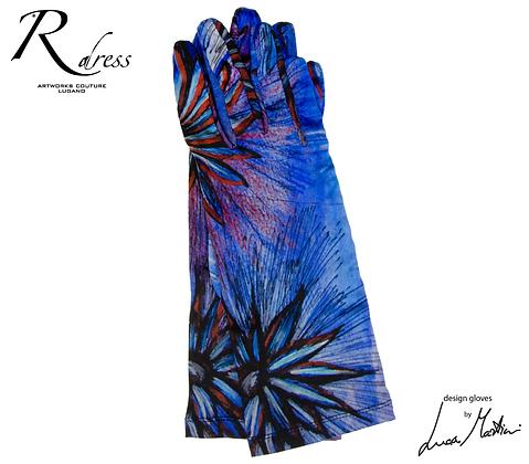 """Short Gloves """"Fiori al Tramonto"""""""