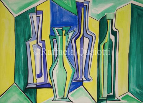 Il Gioco delle Bottiglie in Giallo e Verde