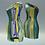 """Thumbnail: One-shoulder sheath Tubino """"Il gioco delle bottiglie in giallo e verde"""""""