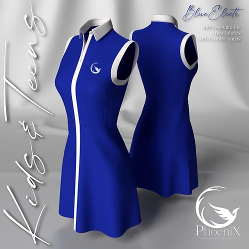 Blue sleeveless mini dress
