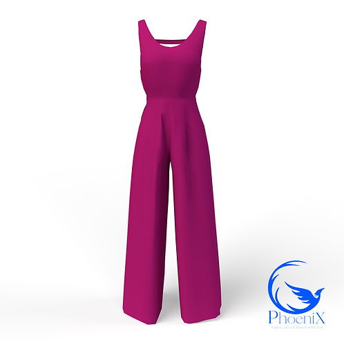 Fuchsia women Jumpsuit