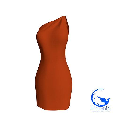 Paprika One Shoulder Tubino