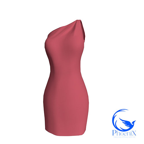 Pink One Shoulder Tubino