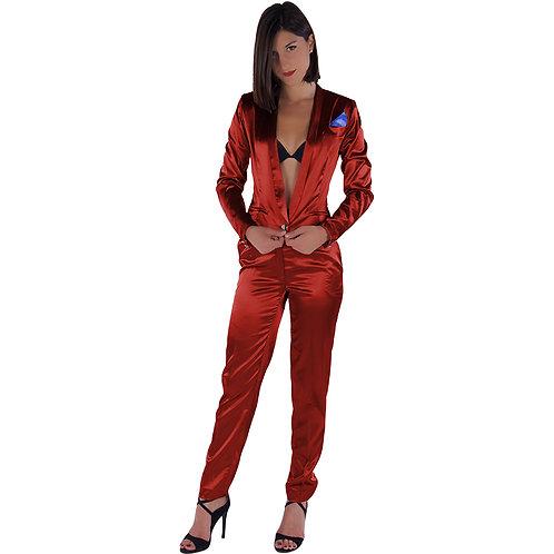 Dark Red Pants Tailleur