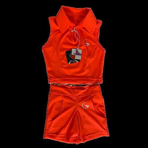 Orange Fluo Kids&Teens Top&Shorts