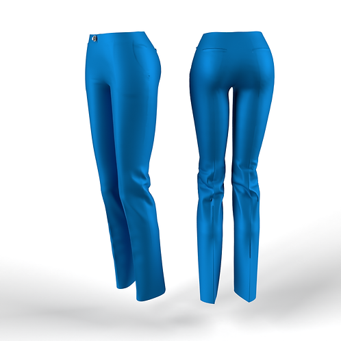 Turquoise low waist women Pants