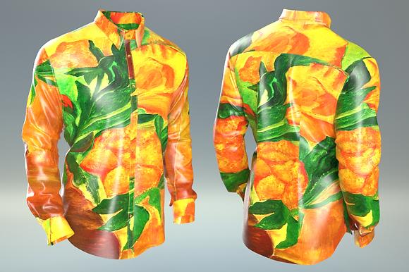 """Shirt """"Fiori in giallo"""""""